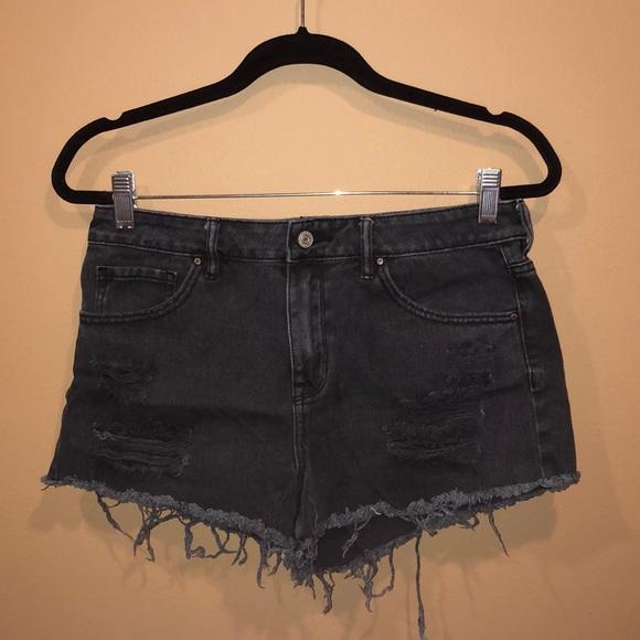 996790335d PacSun Black Distressed High Waisted Denim Shorts.  M_5c72016bc6177781ceb17892
